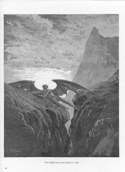 Now Night her course began. Gustave Dore