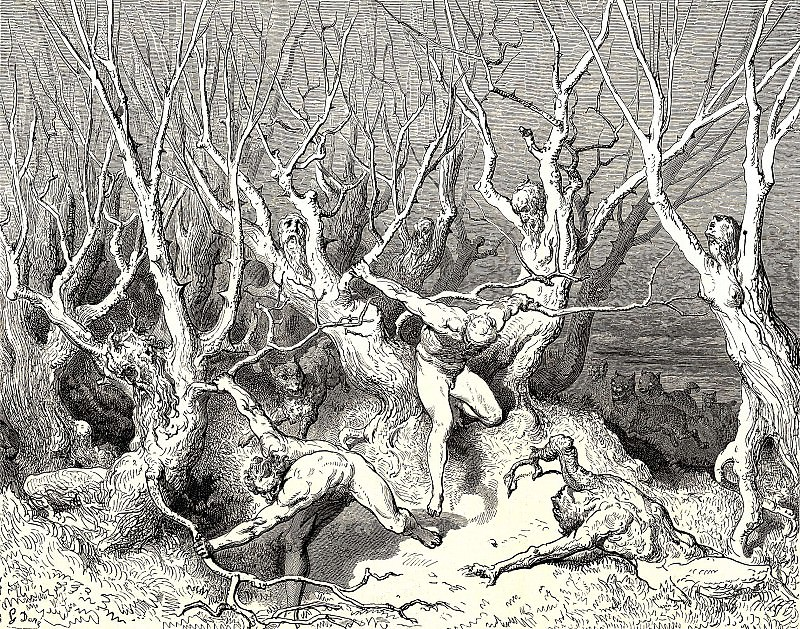 Haste now the foremost cried now haste thee death. Gustave Dore