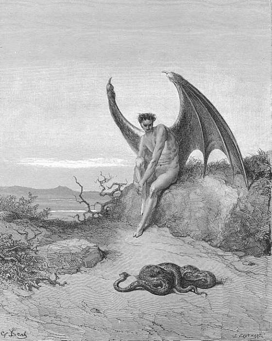 Him fast sleeping soon he found In labyrinth of many a round self rolled. Gustave Dore