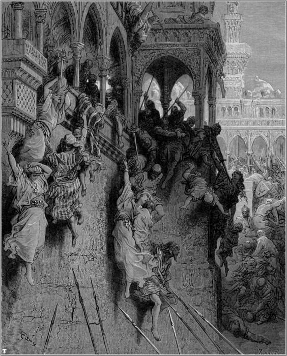 crusades massacre of antioch. Gustave Dore