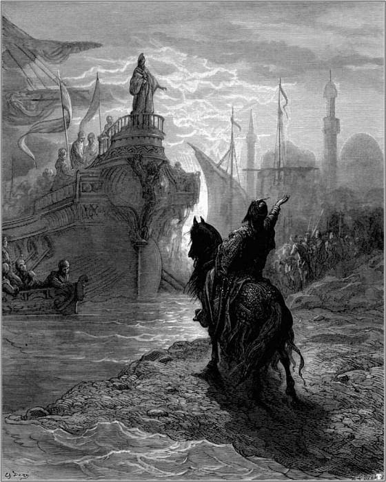 crusades mourzoufle with dandolo. Gustave Dore