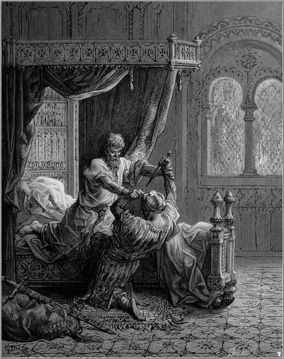crusades edward III kills assassin. Gustave Dore