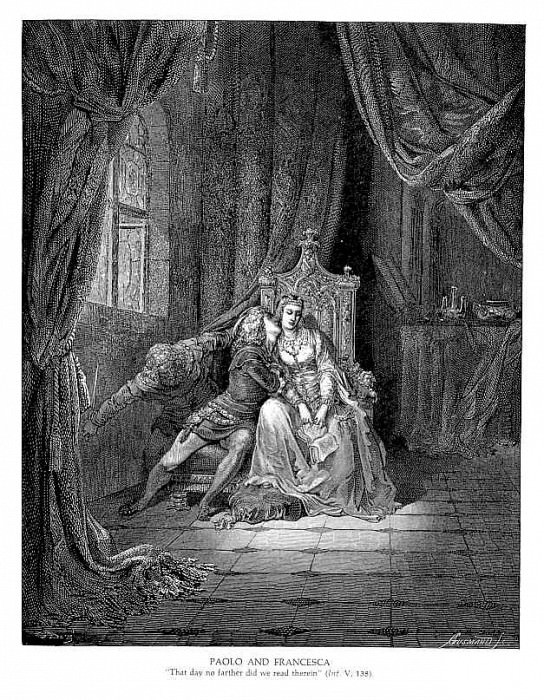 Paolo and Francesca. Gustave Dore