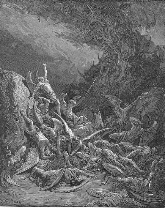 Nine days they fell. Gustave Dore