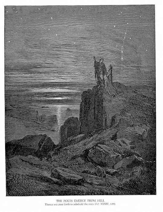 The Poets Emerge from Hell. Gustave Dore