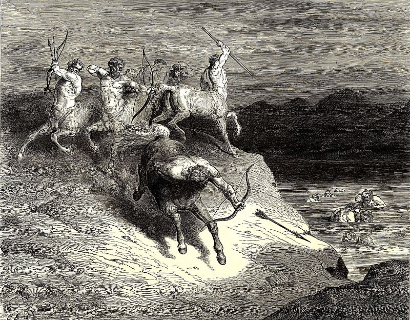 We got closer to these agile monsters. Gustave Dore