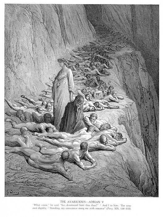 The Avaricious Adrian V. Gustave Dore