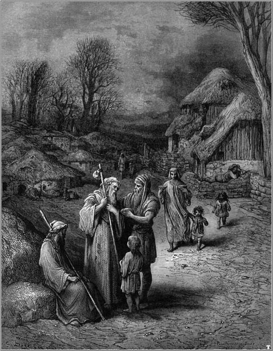 crusades hospitality of barbarians. Gustave Dore