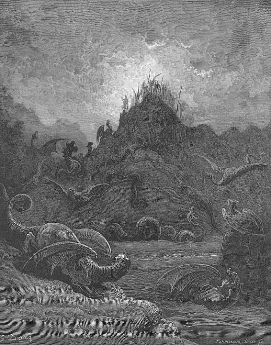 Gorgons and Hydras and Chimeras dire. Gustave Dore