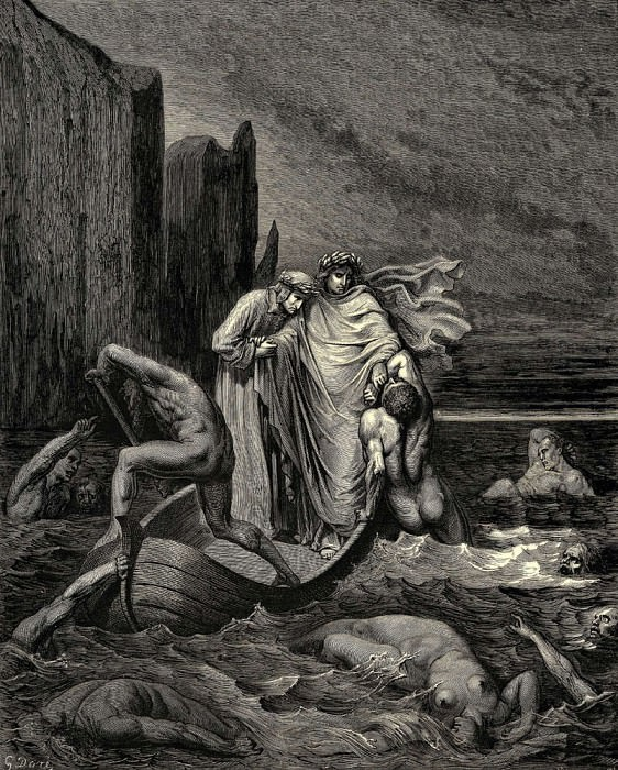 My teacher sage aware thrusting him back -Away down there to th- other dogs-. Gustave Dore