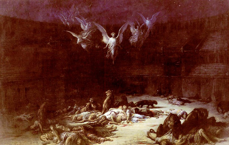 The Christian Martyrs. Gustave Dore