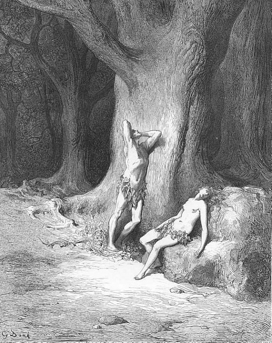 Nor only tears Rained at their eyes but high winds worse within Began to rise. Gustave Dore