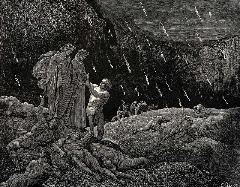 Is this really you Sire Brunetto. Gustave Dore