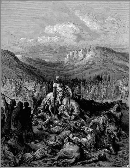 crusades glorious death of de maille. Gustave Dore