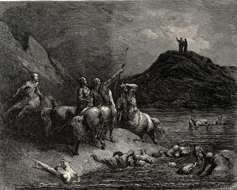 Dore Gustave 33 One cried from far -Say to what pain ye come condemn-d who down this steep have journied-. Gustave Dore