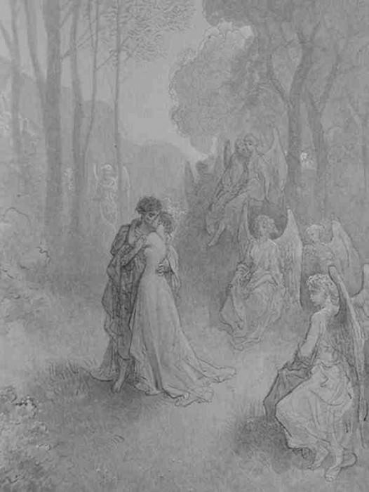 raven. Gustave Dore