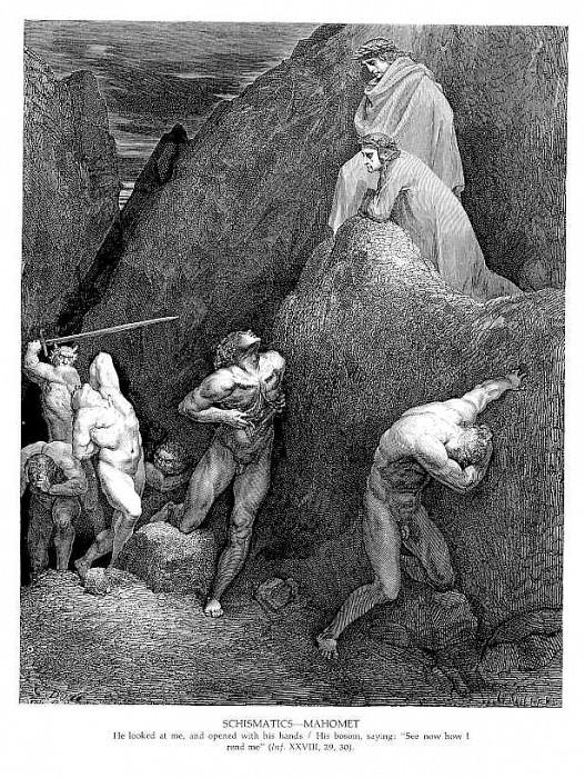 Schismatics Mahomet. Gustave Dore