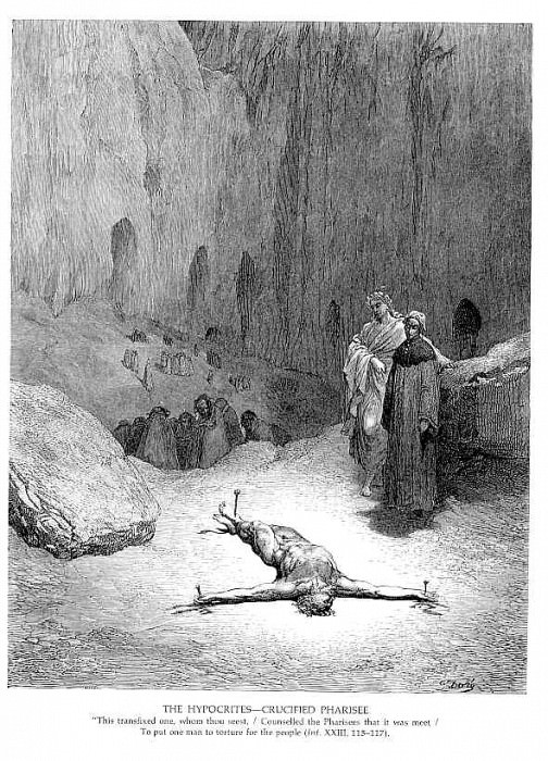The Hypocrites Crucified Pharisee. Gustave Dore