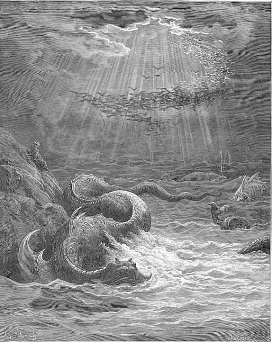 And God said Let the waters generate Reptile with spawn abundant living soul And let fowl. Gustave Dore