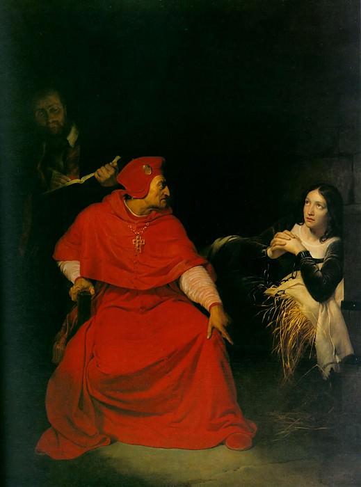 Жанна Д Арк в темнице, 1824. Поль Деларош