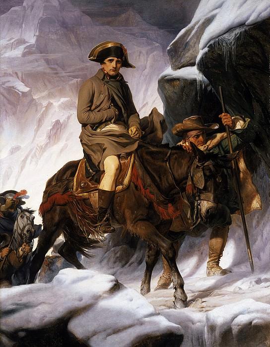 Переход Наполеона через Альпы, 1850. Поль Деларош