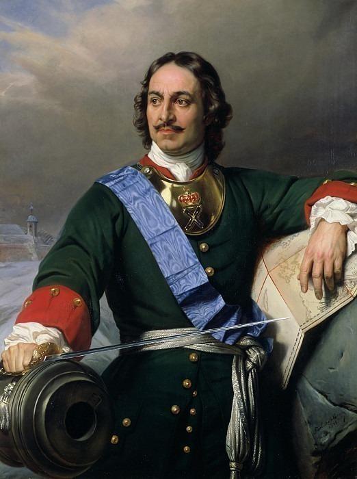 Петр I Великий, император России, 1838. Поль Деларош