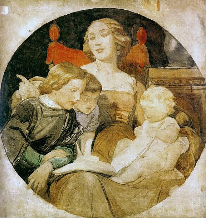 Семейная сценка (незавершенная картина). Поль Деларош