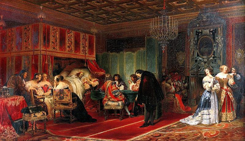 Умирающий кардинал Мазарини, 1830. Поль Деларош