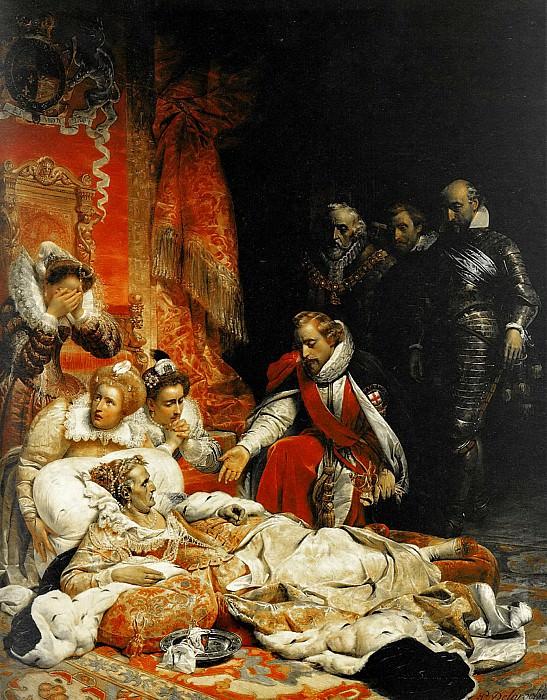 Смерть Елизаветы, 1828. Поль Деларош