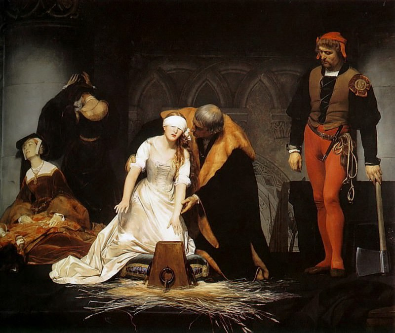 The Execution of Lady Jane Grey, 1834. Paul Delaroche