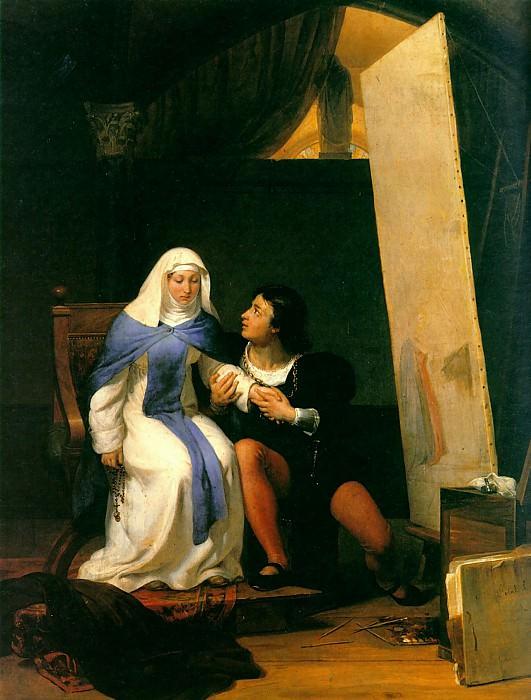 Filippo Lippo Falling in Love with his Model 1822. Paul Delaroche