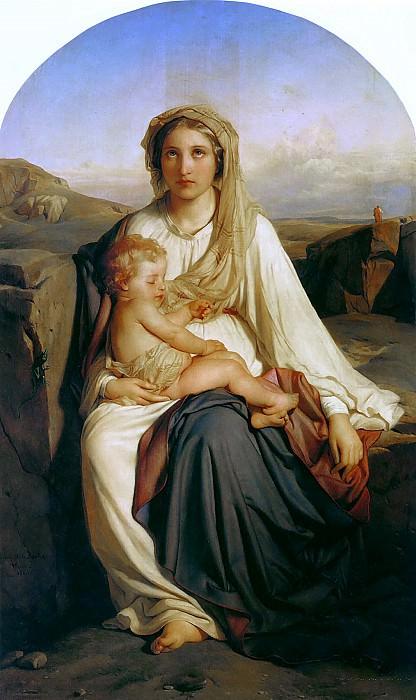 Мадонна и младенец, 1844. Поль Деларош