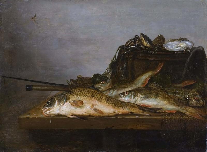Still Life with Fish. Jan Dirven