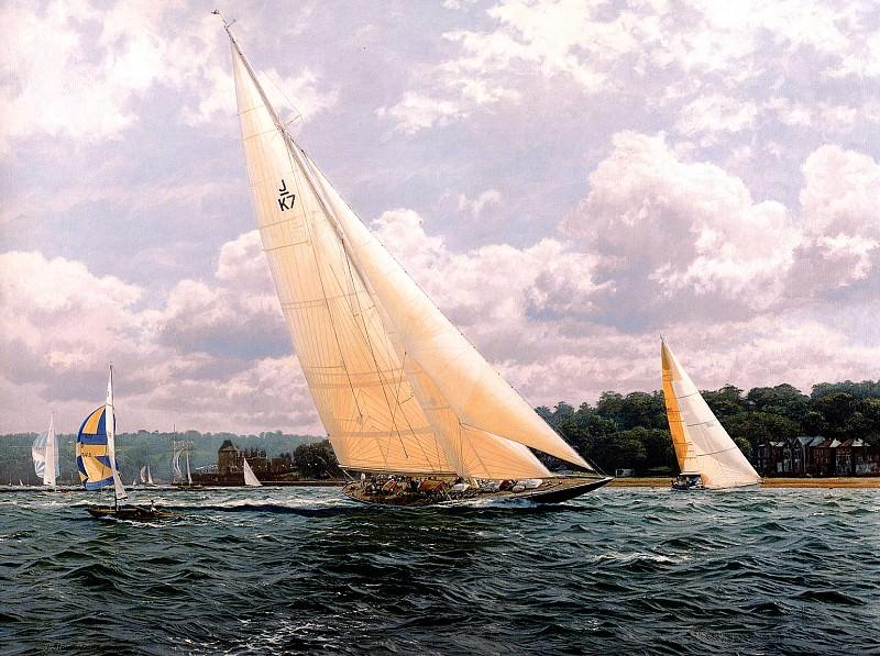 Velsheda Sail Trials in the Solent. J Steven Dews