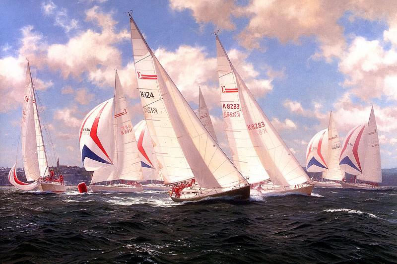 Sigma 38s racing off Ryde. J Steven Dews