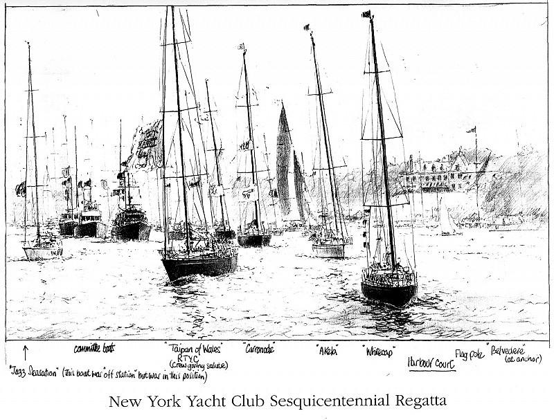 Регата по случаю стапятидесятилетия нью-йоркского яхт-клуба. Джон Стивен Деус