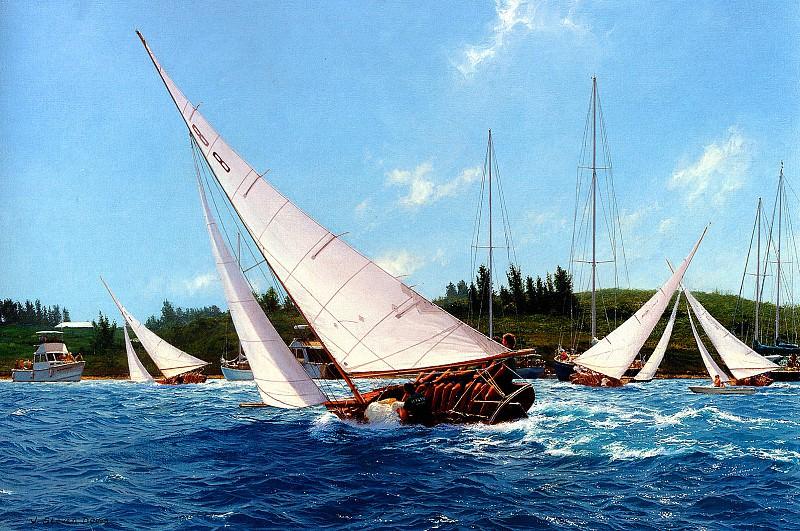 Bermuda Fitted Dinghy Racing. J Steven Dews