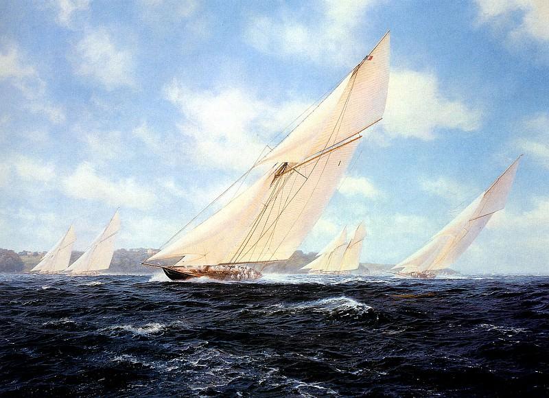 Britannia racing off Cowes. J Steven Dews