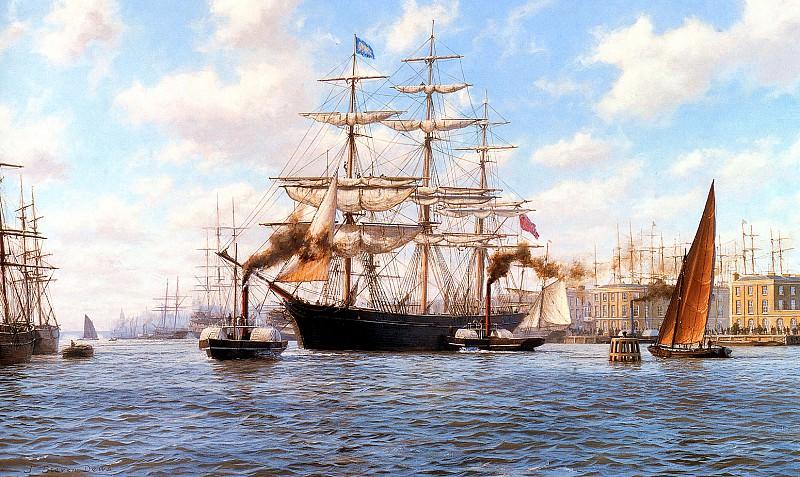 Ariel Leaving London Docks 1866. J Steven Dews