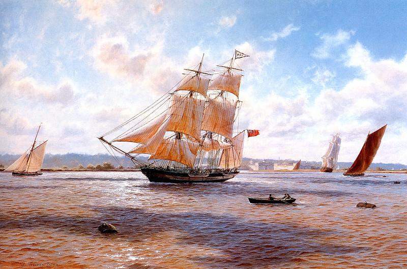 The Whaler Phoenix off Greenwich 1820. J Steven Dews
