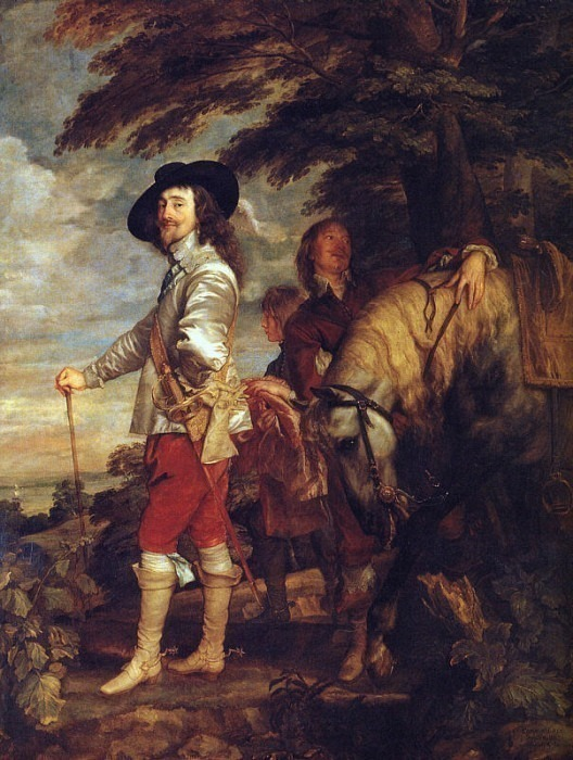 Charles I King of England at the Hunt. Anthony Van Dyck