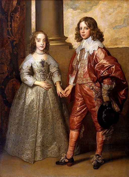 William II Prince of Orange and Princess Henrietta Mary Stuart. Anthony Van Dyck