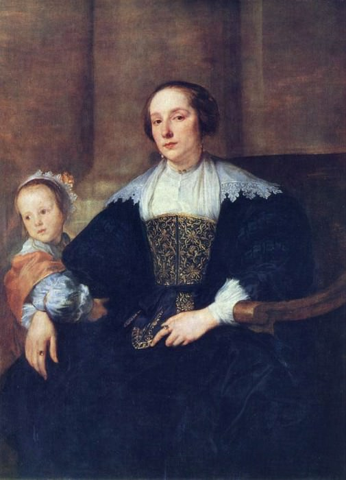 The Wife and Daughter of Colyn de Nole. Anthony Van Dyck
