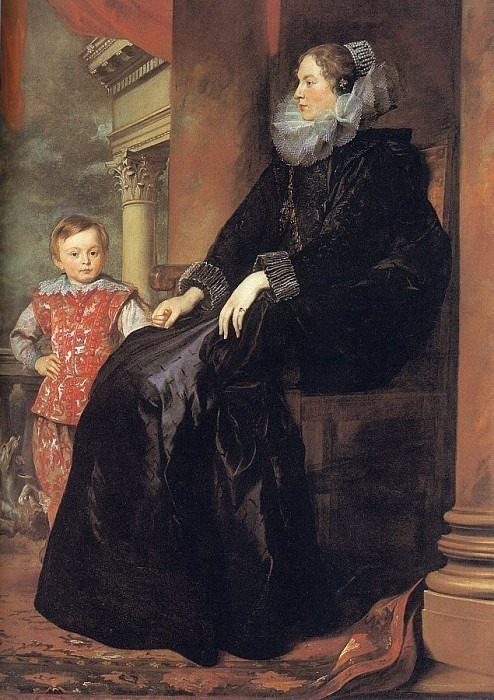 Portrait of the Genoese aristocrat Paulina Adorno with her son. Anthony Van Dyck
