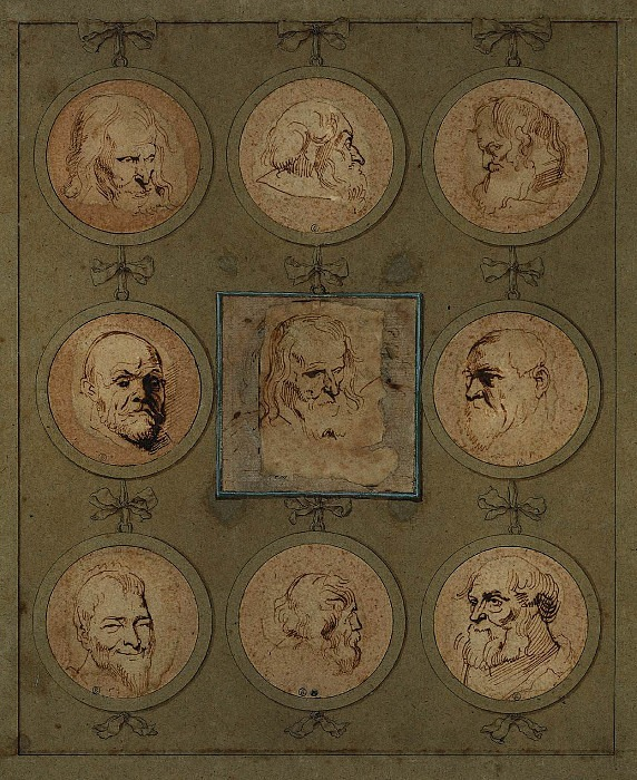 Sheet of Studies. Anthony Van Dyck