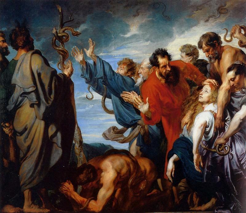 Mozes and the brass snake. Anthony Van Dyck