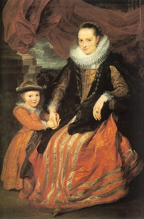 Portrait of Suzanne Fuhrman with her daughter. Anthony Van Dyck