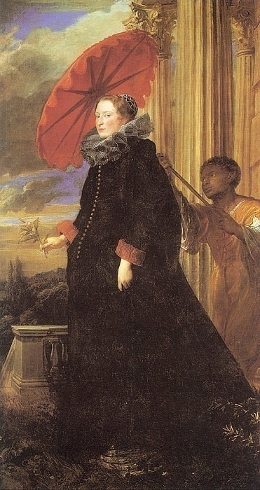Portrait of the Marquis Helena Grimaldi, wife of the Marquis Nicolo Cattaneo. Anthony Van Dyck