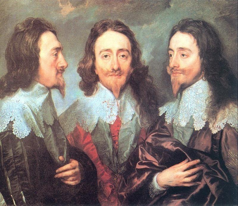 Английский король Карл I в трёх ракурсах. Антонис Ван Дейк