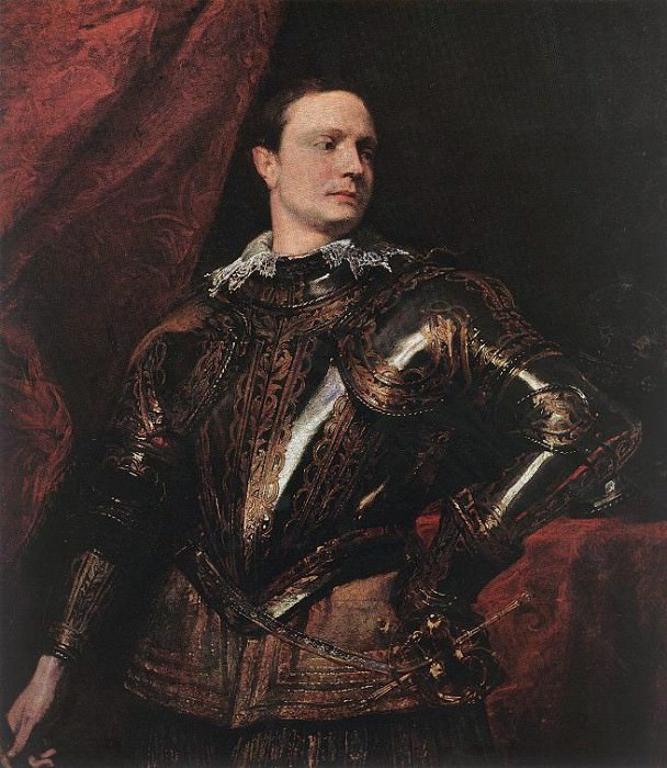 Portrait of a Young General. Anthony Van Dyck